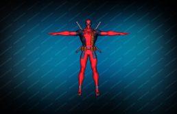 Deadpool red вид спереди