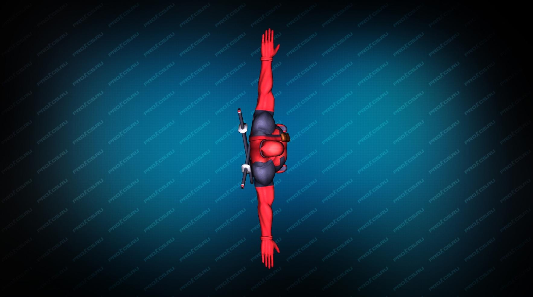 Deadpool red вид сверху