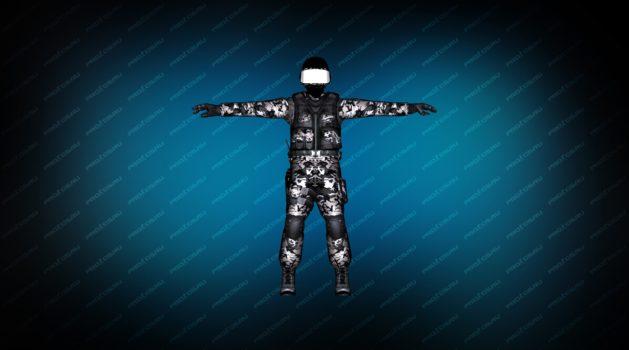 Модель игрок Warfare Unit  CT для CS 1.6