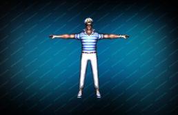 Модель игрока «Капитан Энзо» вид спереди
