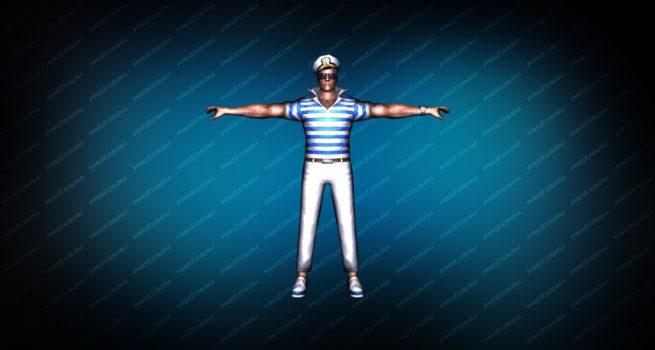 Модель игрока «Капитан Энзо» для CS 1.6