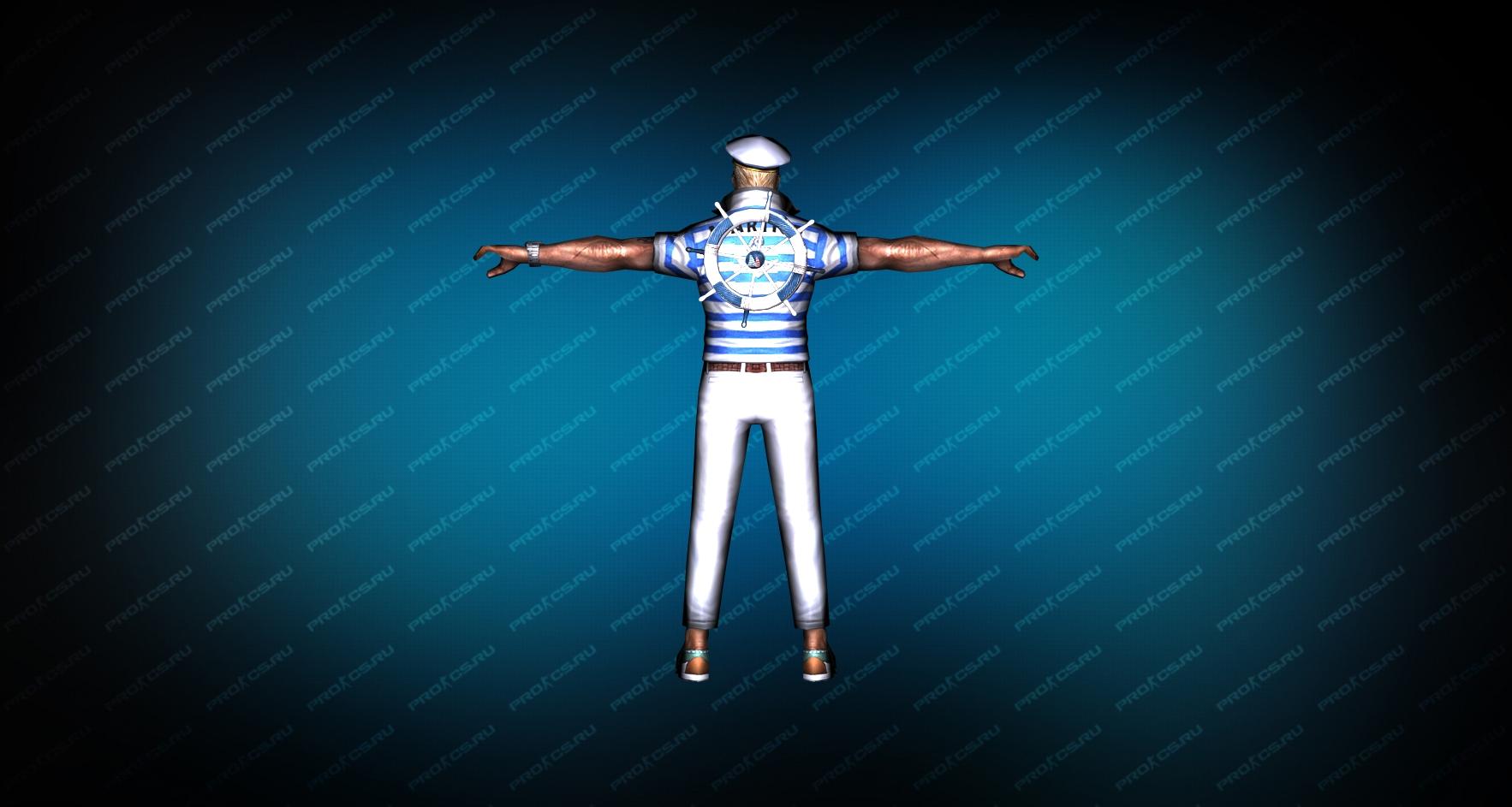 Модель игрока «Капитан Энзо» вид сзади