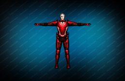 Модель игрока «Rifleman Red» вид спереди