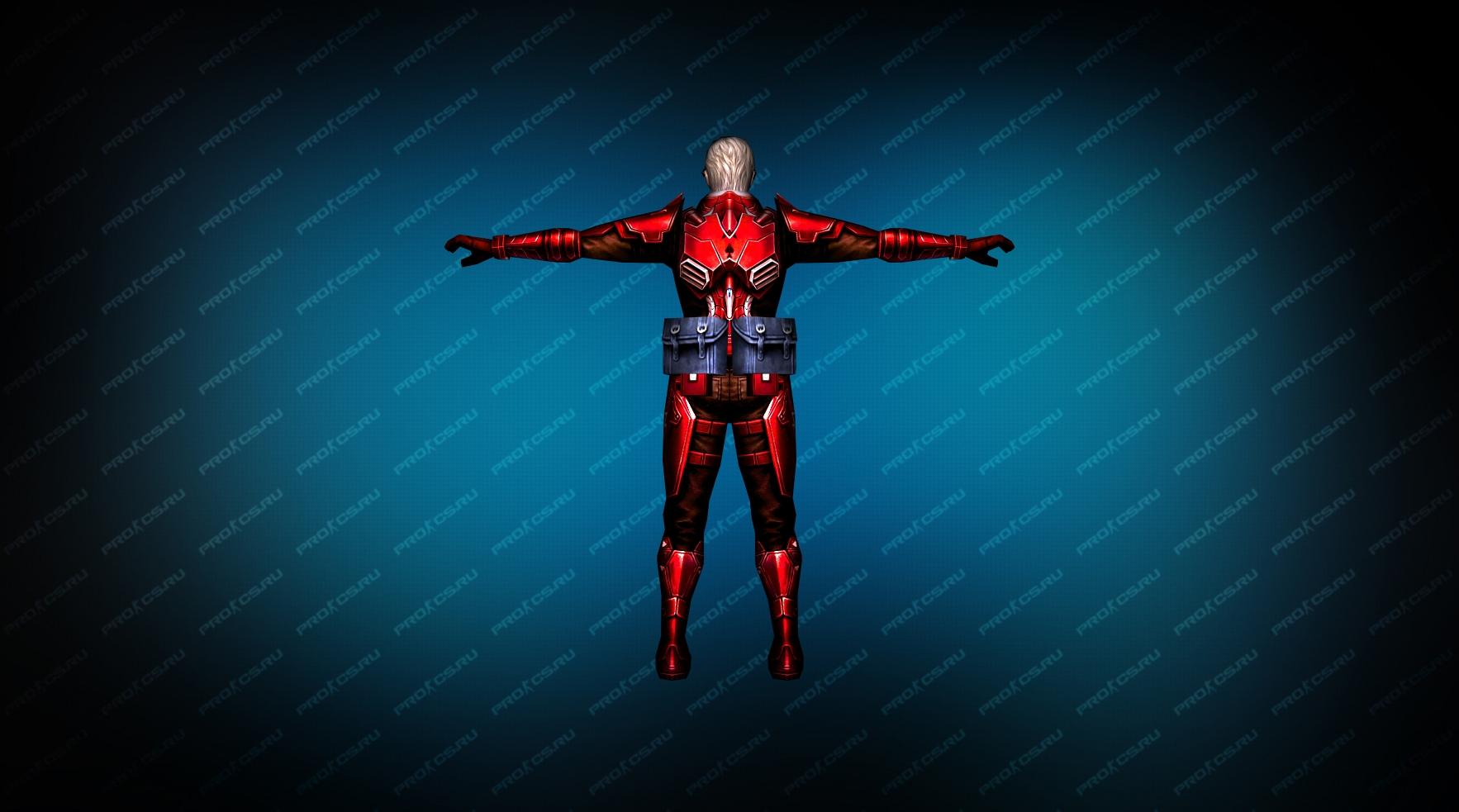 Модель игрока «Rifleman Red» вид сзади