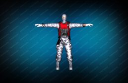 Модель игрока «Snow Soldier» для CS 1.6 вид спереди