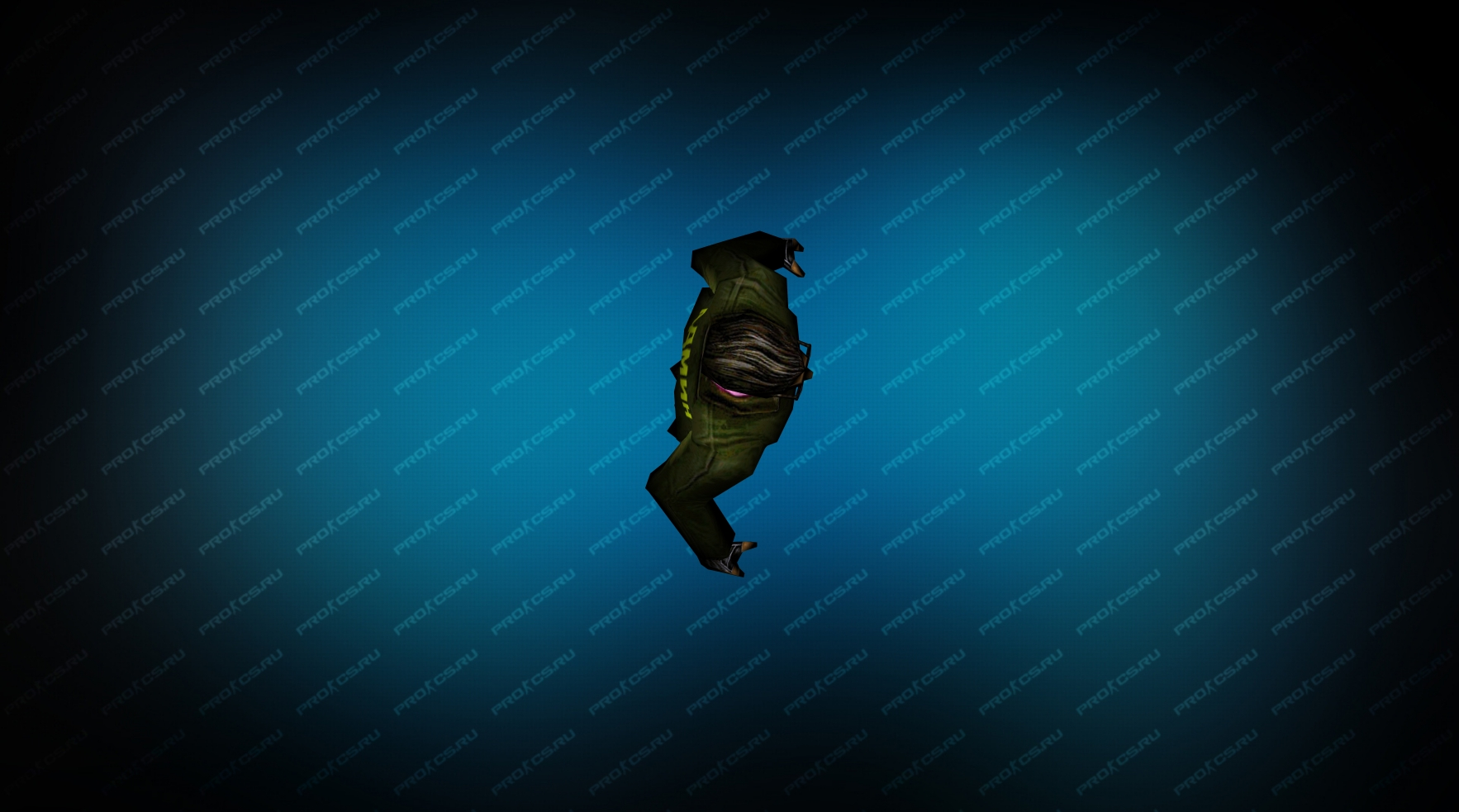 Модель игрока «Админ террорист» Вид сверху