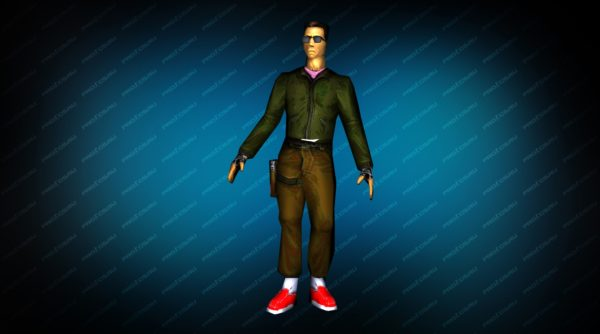 Модель игрока «Админ террорист» вид спереди