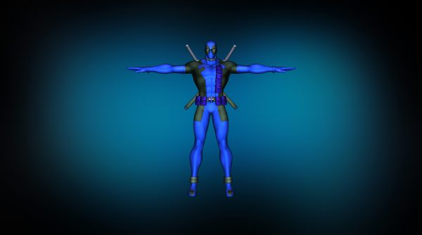 Deadpool blue спереди