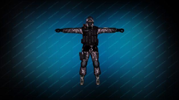 Модель «Элитный солдат» для CS 1.6