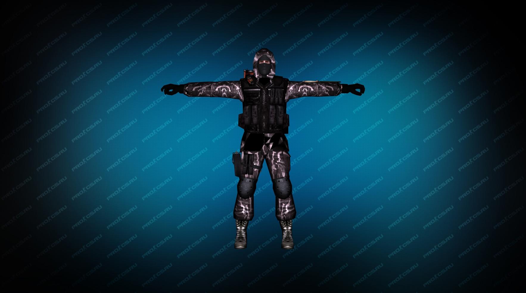 Элитный солдат вид спереди