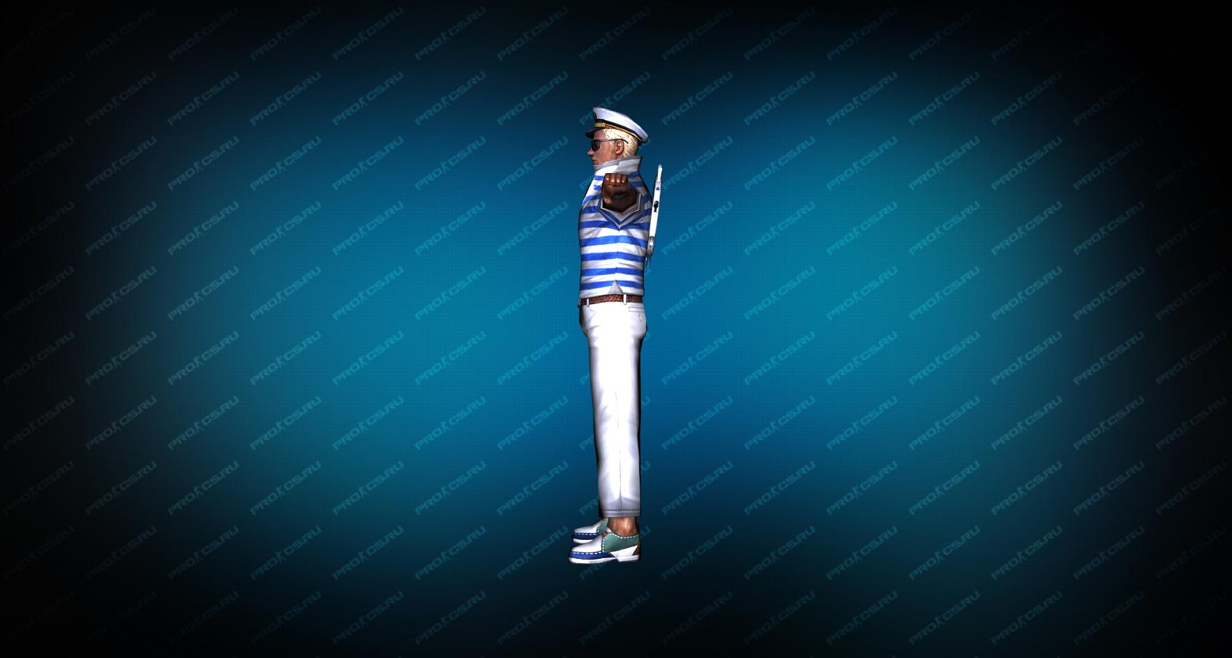 Модель игрока «Капитан Энзо» вид сбоку