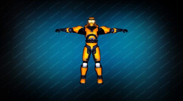 Модель игрока «Master Chief» оранжевый CT для CS 1.6