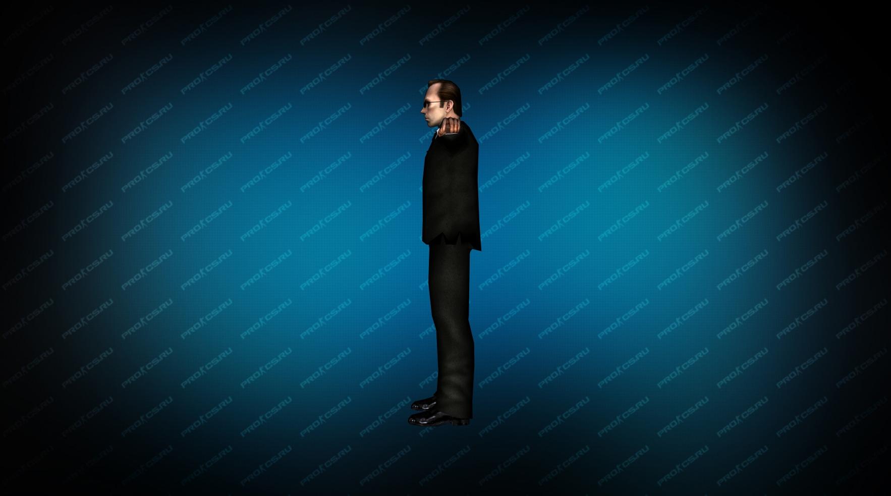 Модель игрока «Агент Смит» вид сбоку