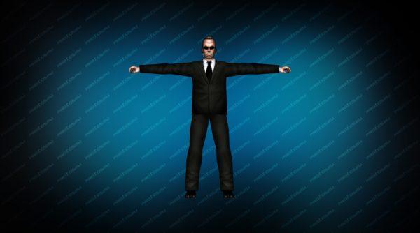 Модель игрока «Агент Смит» вид спереди