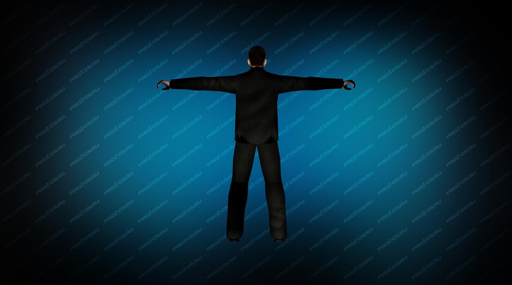 Модель игрока «Агент Смит» вид сзади