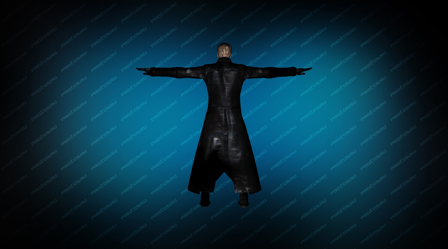 Модель игрока «Albert Wesker» вид сзади