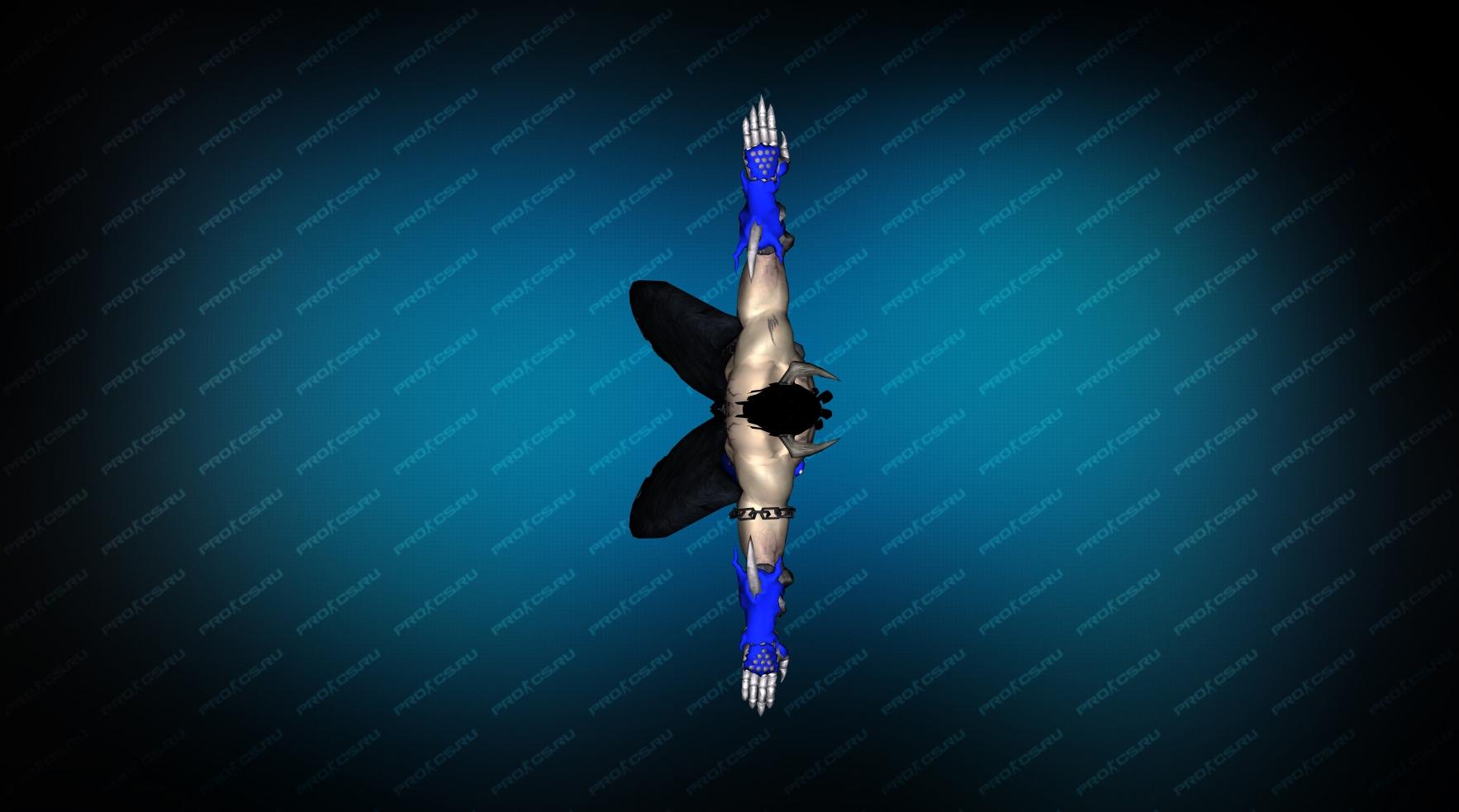 Модель игрока «Devil Jin» Blue CT для CS 1.6 Вид сверху