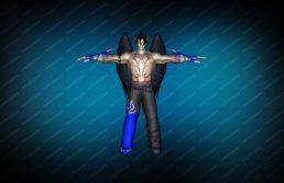 Модель игрока «Devil Jin» Blue CT для CS 1.6 вид спереди