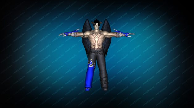 Модель игрока «Devil Jin» Blue CT для CS 1.6