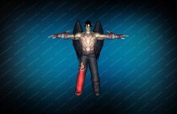 Модель игрока «Devil Jin» Red TT для CS 1.6 вид сзади вид спереди