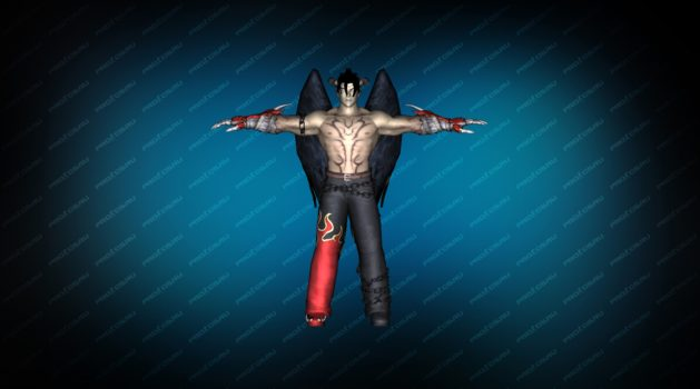 Модель игрока «Devil Jin» Red TT для CS 1.6