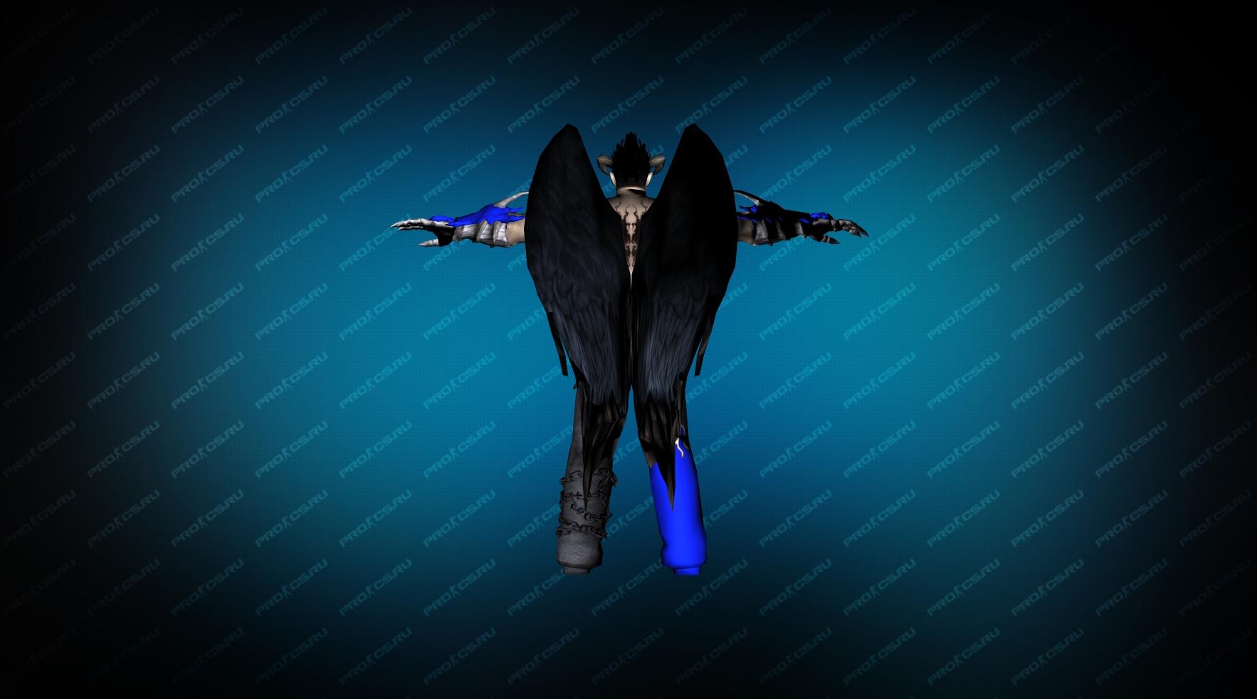 Модель игрока «Devil Jin» Blue CT для CS 1.6 вид сзади