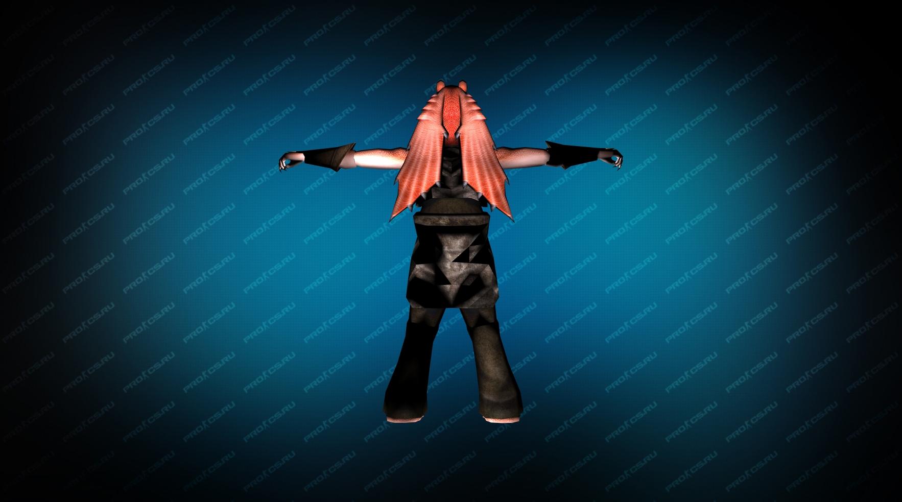 Модель игрока «Джа-Джа Бинкс» вид сзади