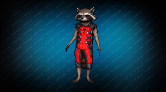Модель игрока «Енот Ракета» Red для CS 1.6