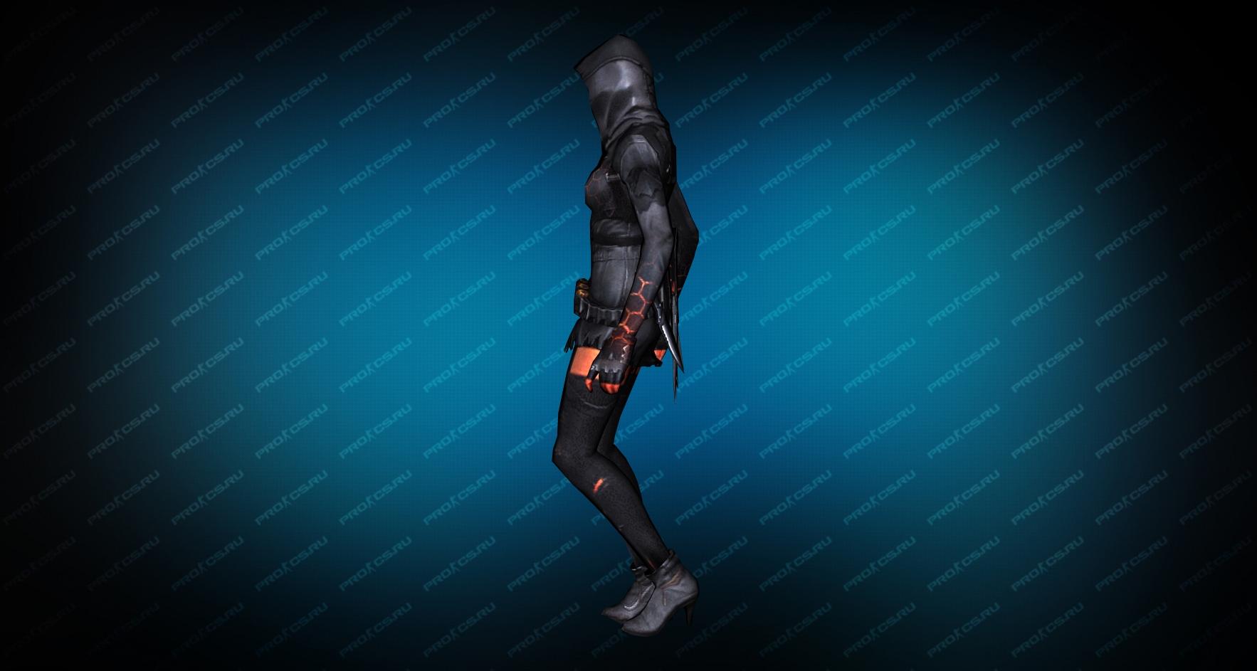 Модель игрока «Fury Ghost» вид сбоку