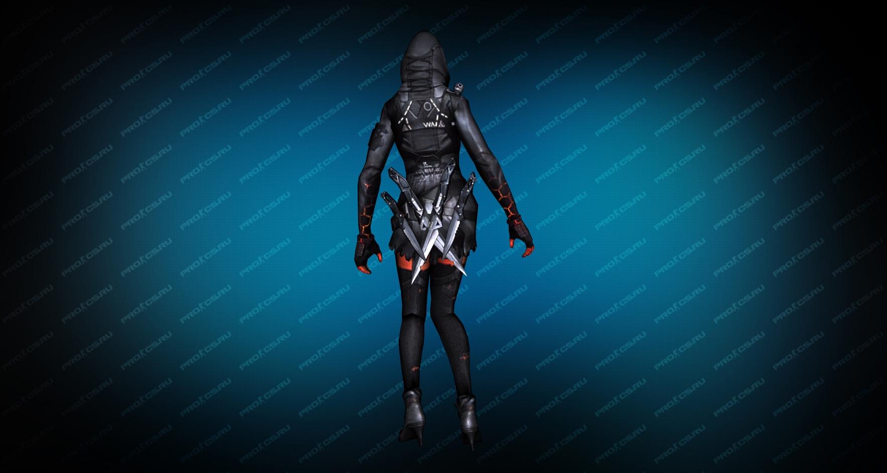 Модель игрока «Fury Ghost» вид сзади