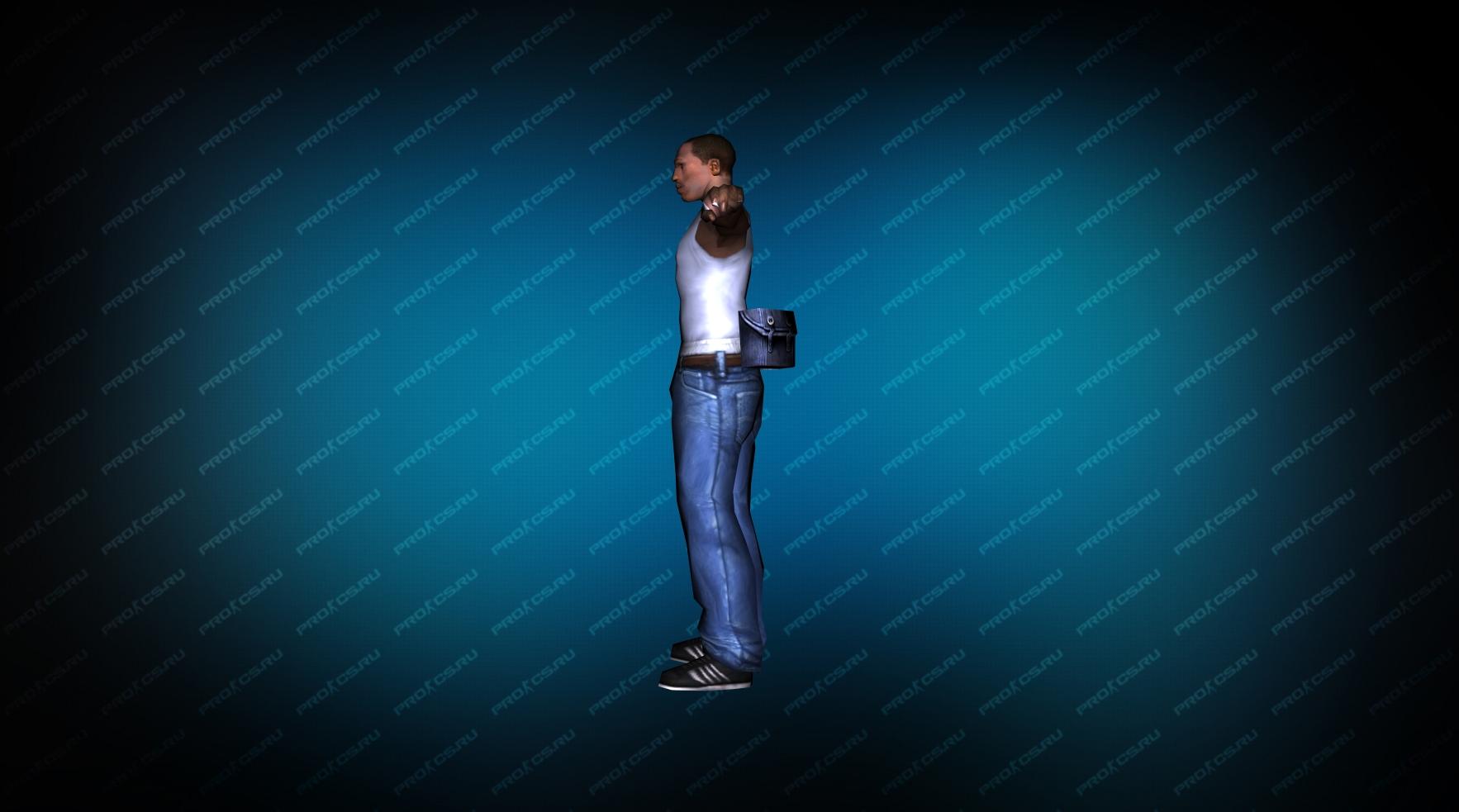 Модель игрока «Карл Джонсон» из GTA вид сбоку
