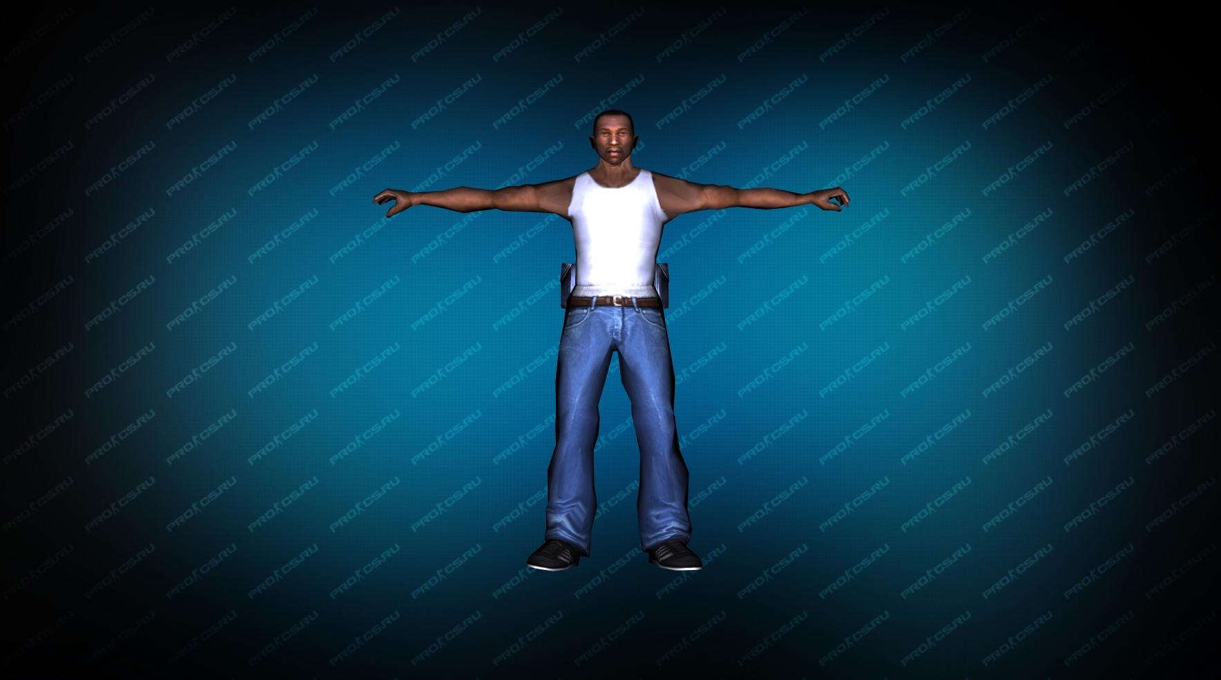 Модель игрока «Карл Джонсон» из GTA вид спереди