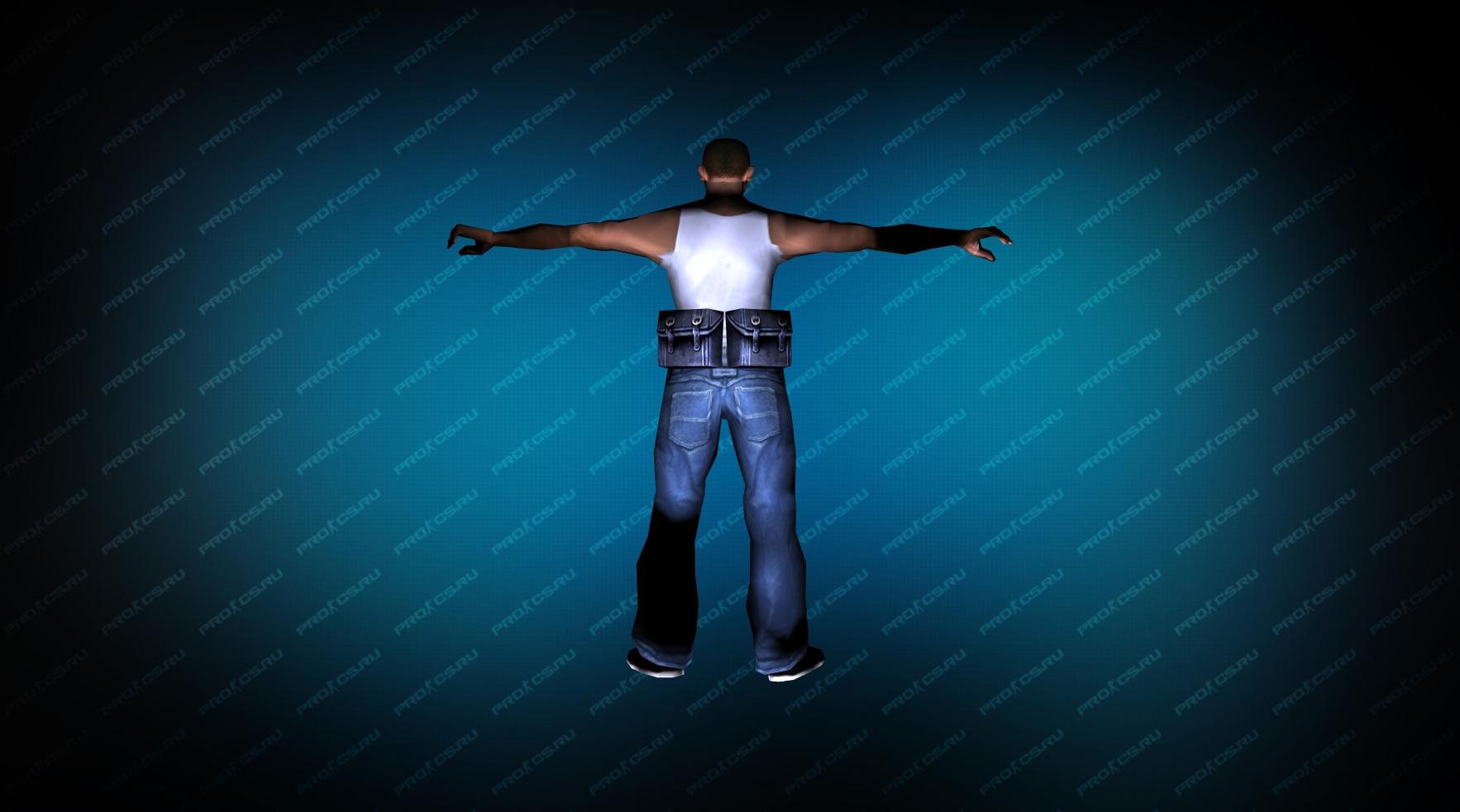 Модель игрока «Карл Джонсон» из GTA вид сзади