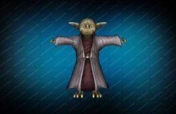 Модель игрока «Мастер Йода» вид спереди