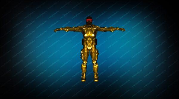 Модель игрока «NanoSuit Gold» вид спереди