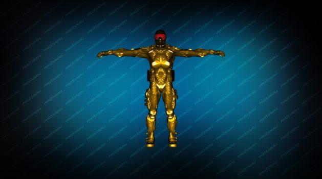 Модель игрока «NanoSuit Gold» для CS 1.6