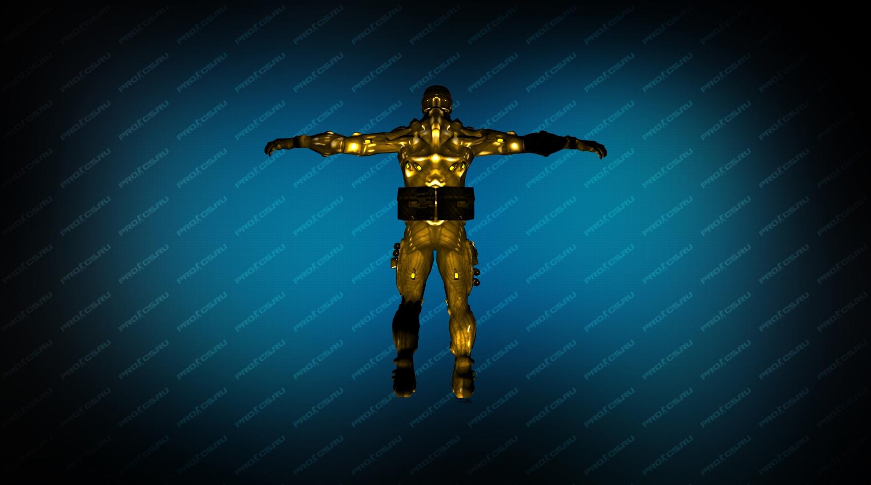 Модель игрока «NanoSuit Gold» вид сзади