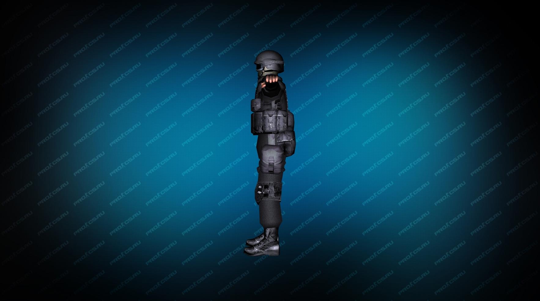 Модель игрока «SWAT Umbrella» вид сбоку