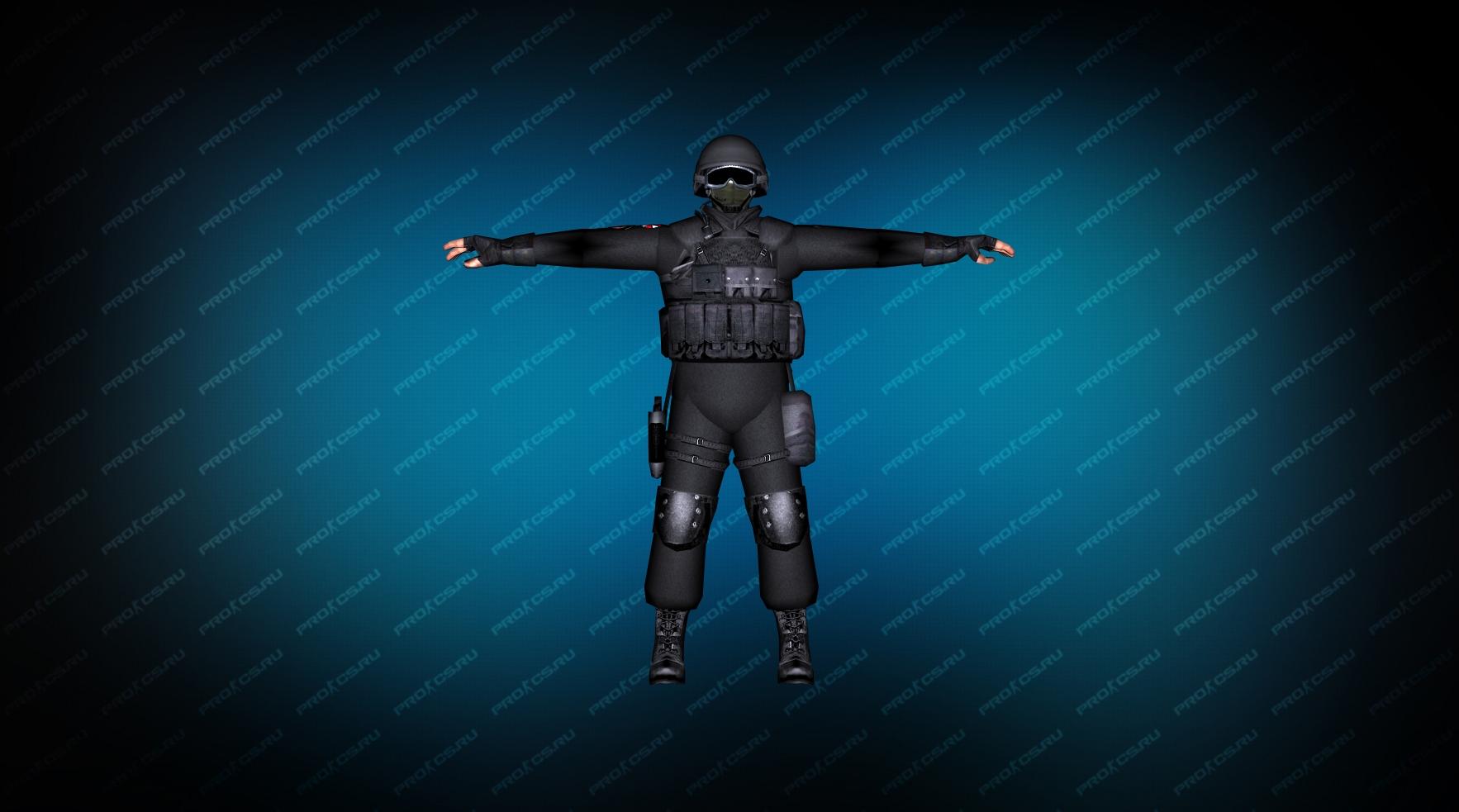 Модель игрока «SWAT Umbrella» вид спереди