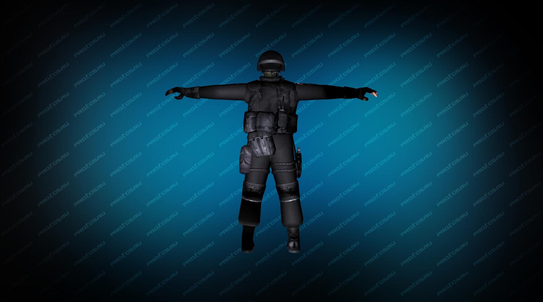 Модель игрока «SWAT Umbrella» вид сзади