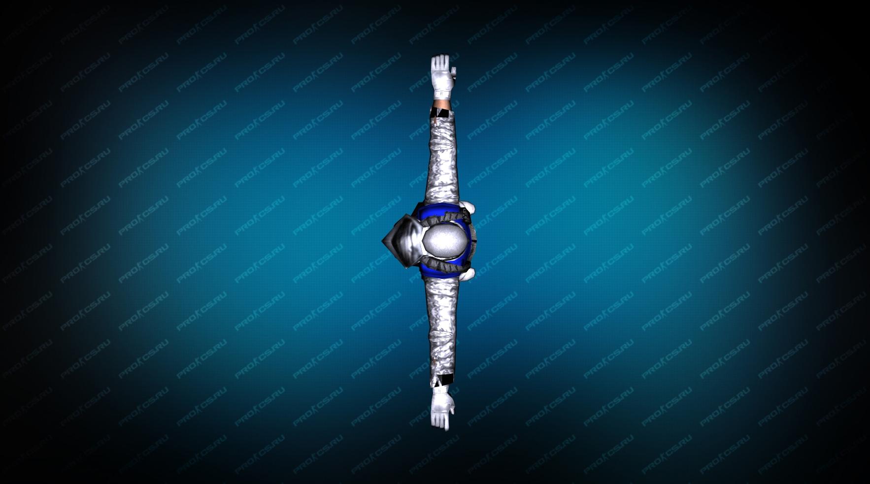 Модель игрока «Snow Soldier» Blue для CS 1.6 Вид сверху