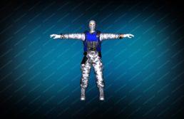 Модель игрока «Snow Soldier» Blue для CS 1.6 вид спереди