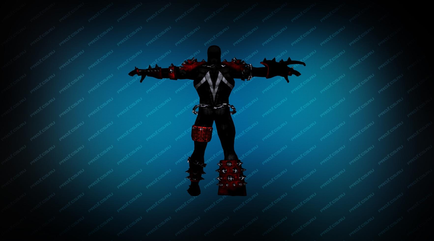 Модель игрока «Spawn» вид сзади