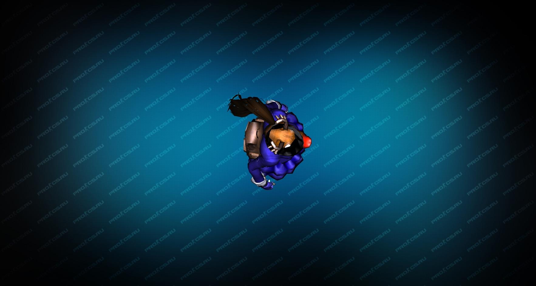 Модель игрока «Succubus Blue» Вид сверху