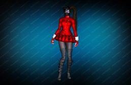Модель игрока «Succubus Red» вид спереди