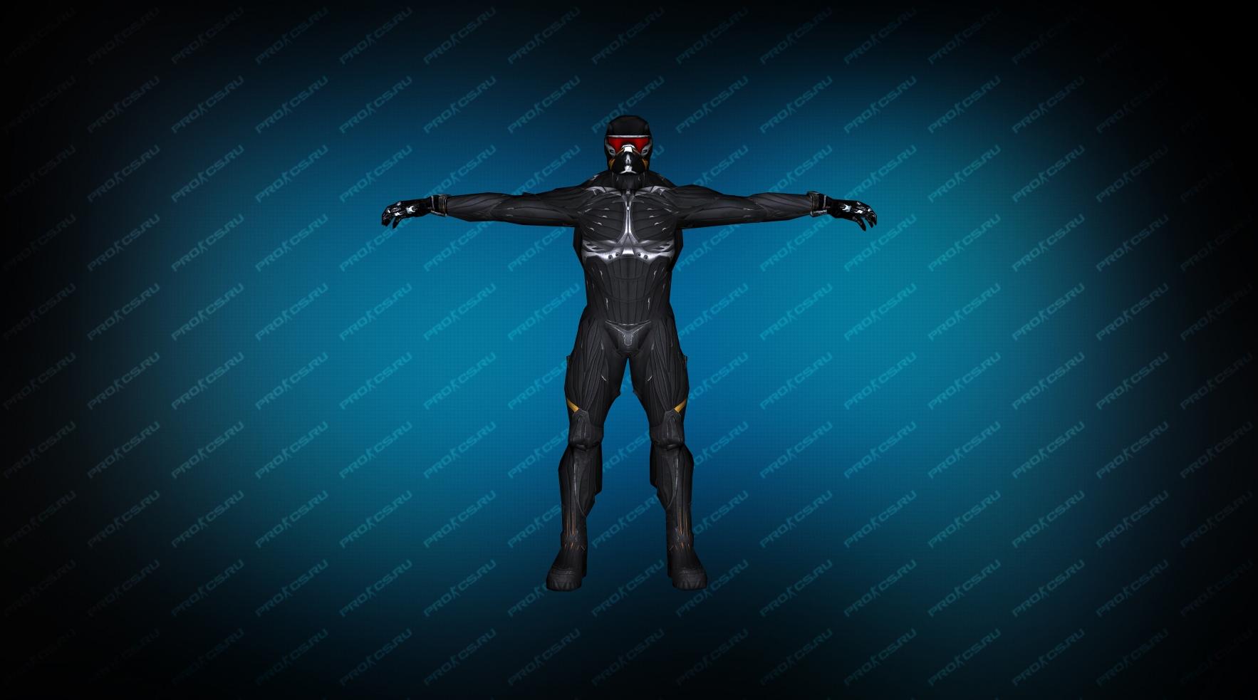 Nanosuit TT черный вид спереди